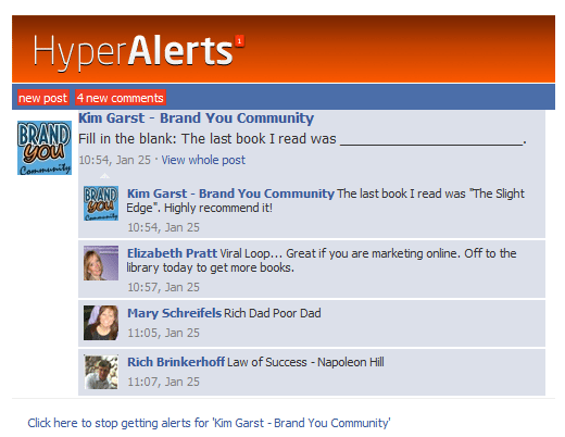 EMAIL NEW APP HYPER ALERTS   FREE FACEBOOK FAN PAGE NOTIFICATIONS