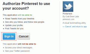 authorization 300x181 How To Get Started With Pinterest