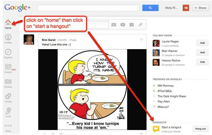 GoogleHangout1 Step By Step: How to Record Google+ Hangouts