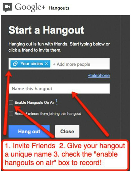 GoogleHangout2 Step By Step: How to Record Google+ Hangouts