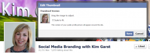2 Social Media Branding with Kim Garst 300x107 11 Ways to Improve your Brand Presence on Facebook