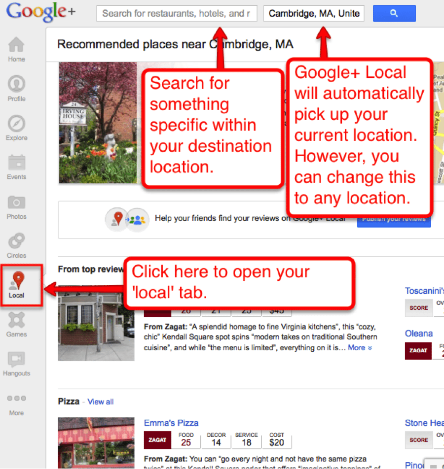 google+ How to Find Local Business Connections On Google+