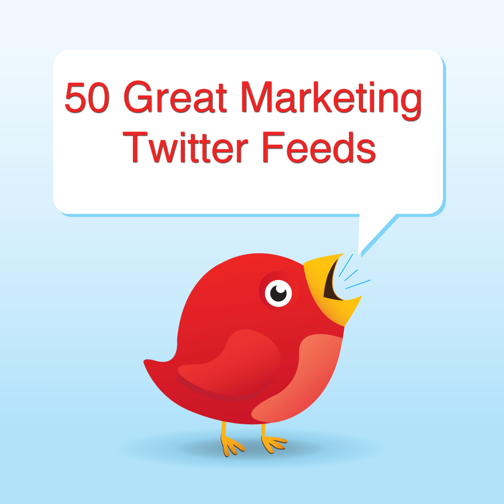 50 Great Marketing Twitter Feeds