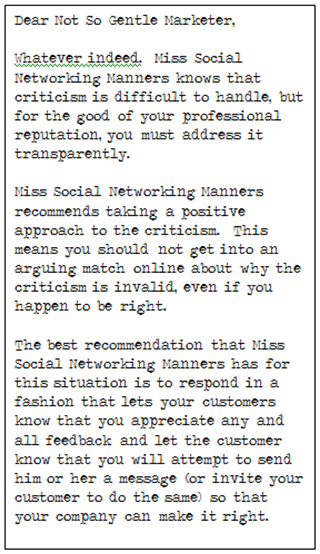Miss Manners Response 3 The Social Media Etiquette Guide You Wish Miss Manners Had Written