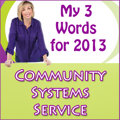 My Three Words for 2013