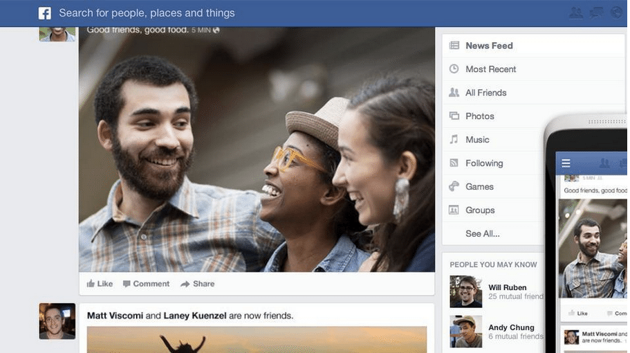 FB Newsfeed2 Facebook's NEWsfeed – How to Optimize the New Look for Your Business