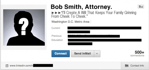 "BobSmithTaglineAFTER 506x240 How To Write A ""Sticky"" LinkedIn Profile Summary"