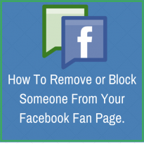 to remove or add someone from your fan page