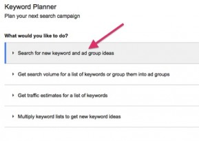 Keyword Planner 289x205 A Step by Step Guide to SEO Keyword Research Using FREE Tools