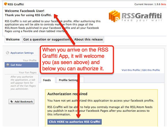 Blog To FBFP B How to Add Your Blog Posts to Your Facebook Fan Page