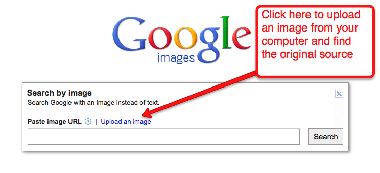 How to use Google images to find an image's source