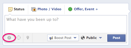 how to schedule on facebook