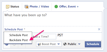 scheduling content on facebook