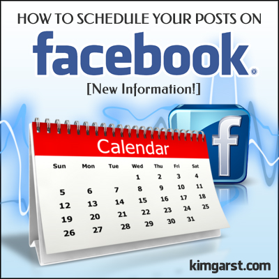 How to Schedule Your Posts on Facebook [New Information!]