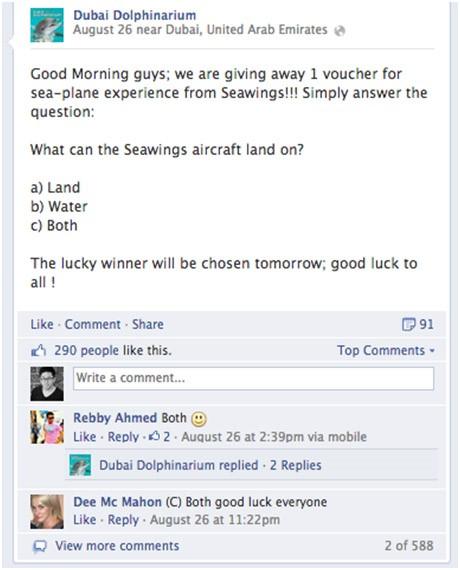 多選擇Facebook比賽