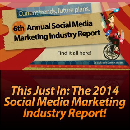 This Just In: The 2014 Social Media Marketing Industry Report!