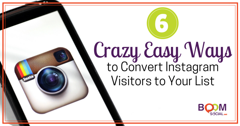 6 Crazy Easy Ways to Convert Instagram Visitors to Your List