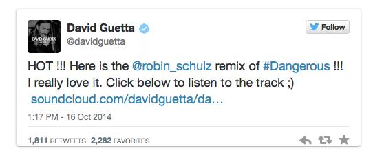 Davdi Guetta Twitter Audio Card
