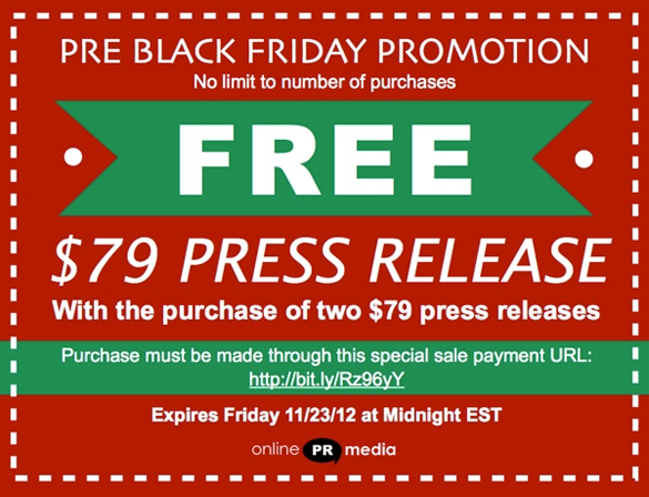 Online PR Media Black Friday Sale