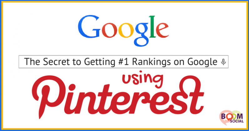 The Secret to Getting #1 Rankings on Google…Using Pinterest!
