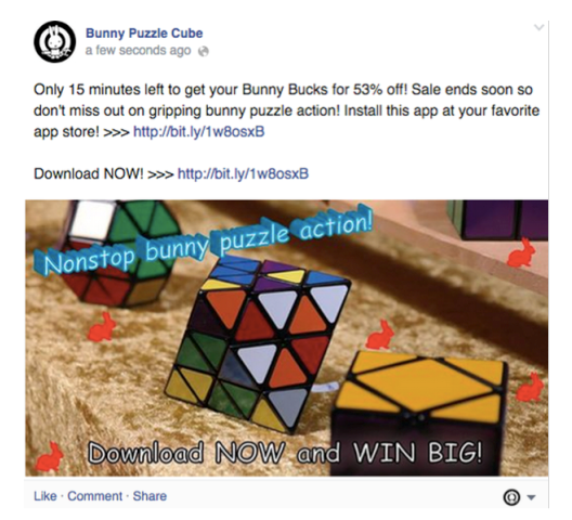 Bunny Puzzle Cube Promotional Post Example