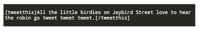 Tweet This Plugin Manual Shortcode