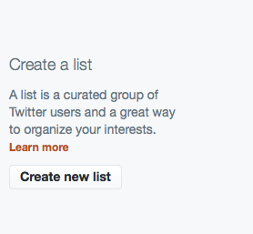 Create a New List Screenshot
