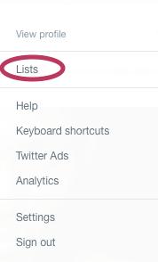 Twitter List Screenshot