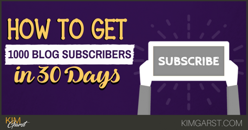 How to Get 1000 Blog Subscribers in 30 Days for FREE