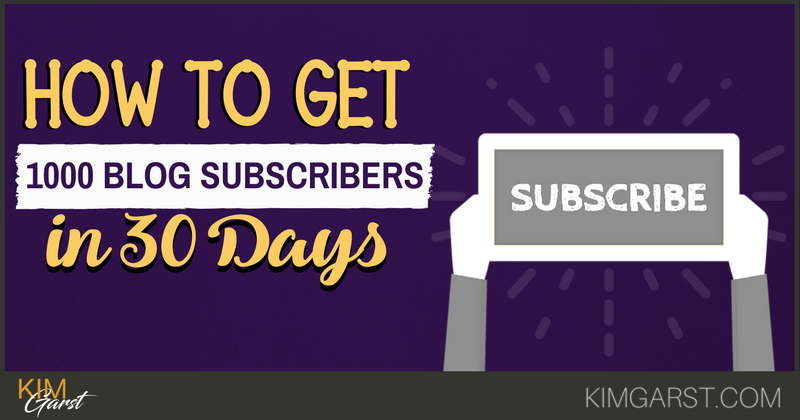 How to Get 1000 Blog Subscribers in 30 Days