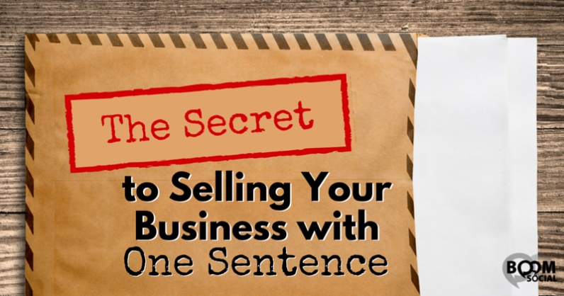 The Secret to Selling Your Business with One Sentence