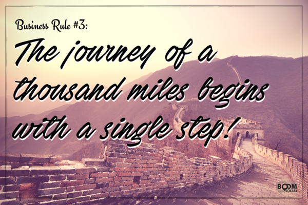 The journey of a thousand miles begins with a single step!