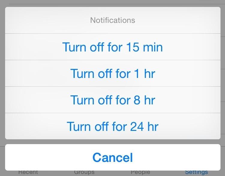 mute facebook messenger notifications