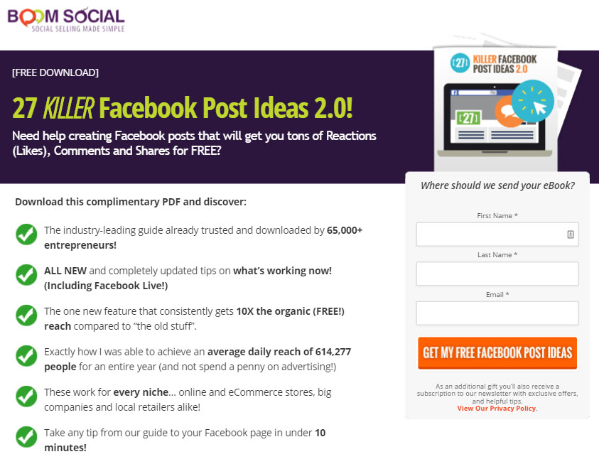 Facebook post ideas that generate engagement