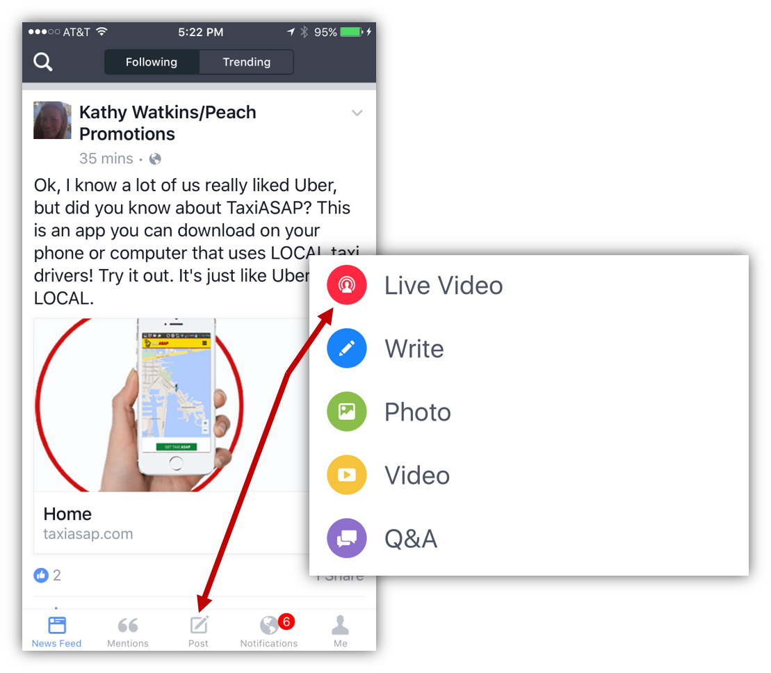 Facebook Live Using Facebook Mentions