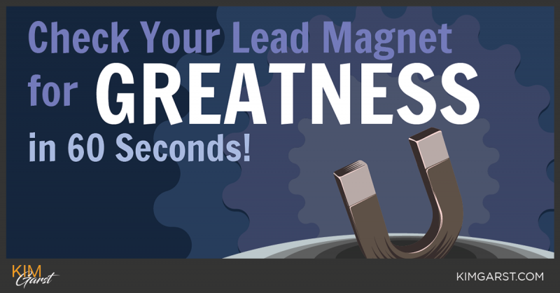 Check Your Lead Magnet for GREATNESS in 60 Seconds!