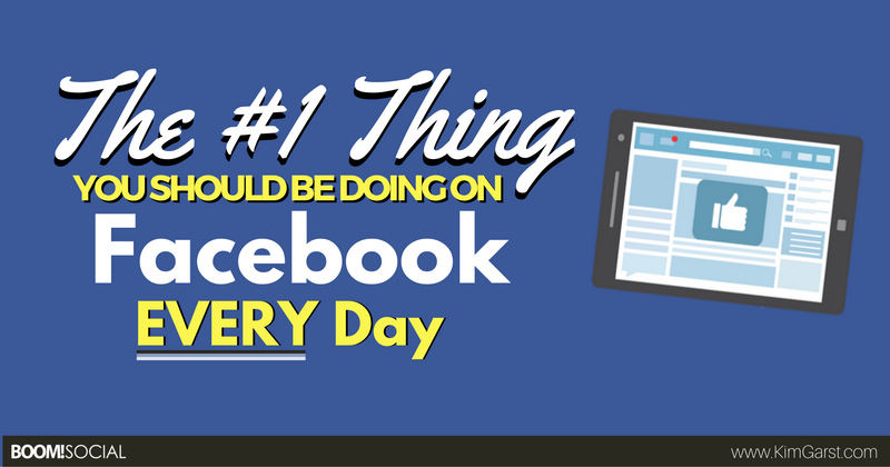 The #1 Thing You Should Be Doing on Facebook EVERY Day