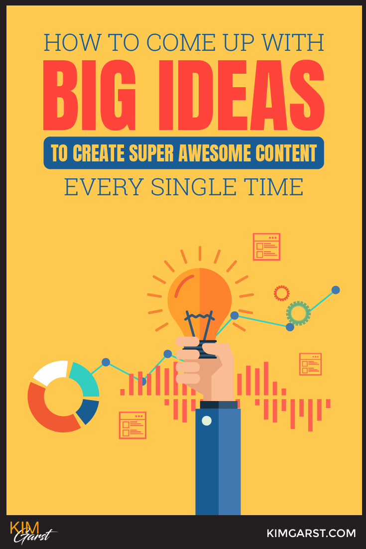 How To Come Up With BIG Ideas To Create Super Awesome Content Every Single Time