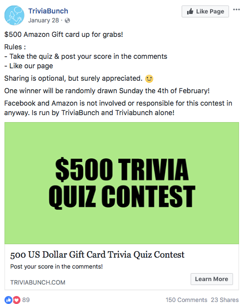 8 a quiz or trivia contest