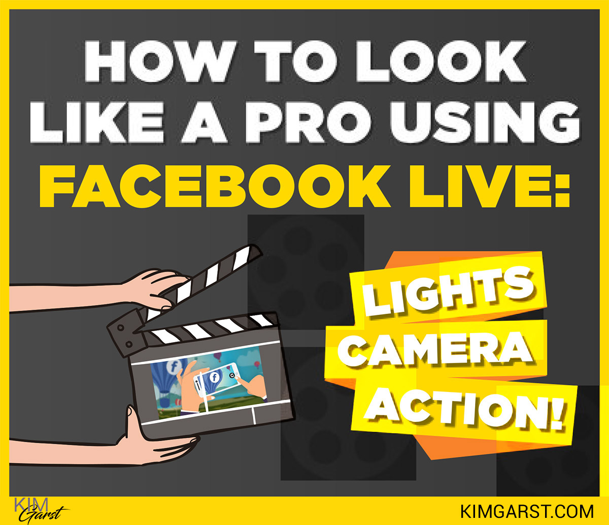 How To Look Like A Pro Using Facebook Live Lights Camera Action Soft Start For Flash Kim Garst Marketing Strategies That Work
