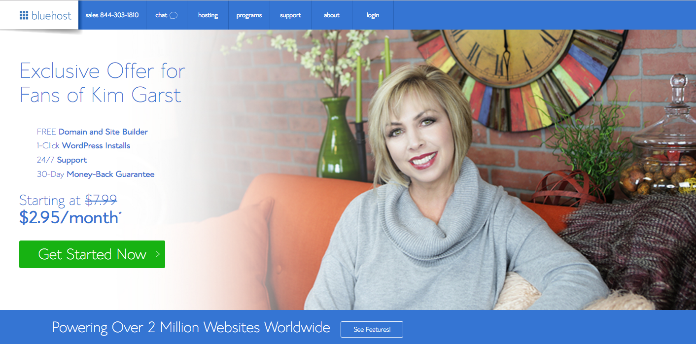 Kim Garst Bluehost Offer