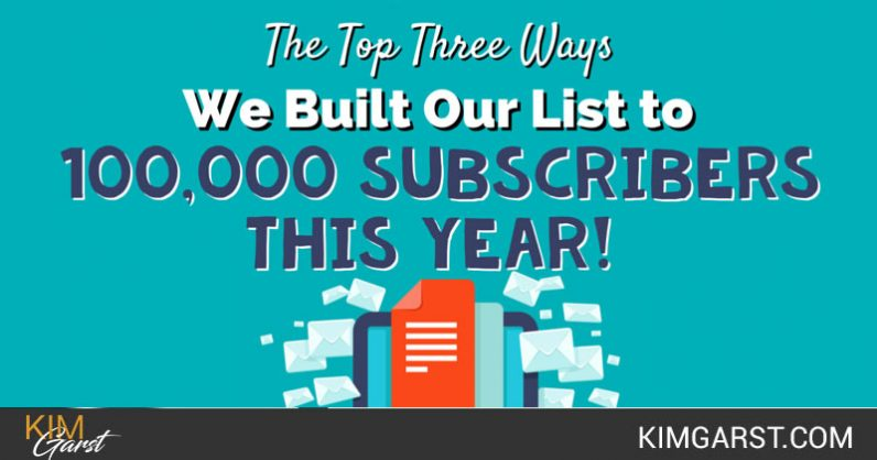 Top Three Ways We Built Our List to 100,000 Subscribers this Year