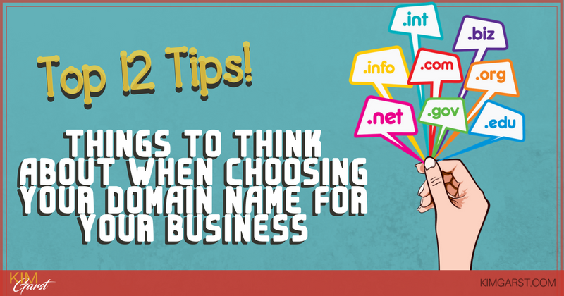 2 Things to Think About When Choosing Your Domain Name - Blog