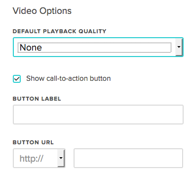 Call to Action Button in Animoto