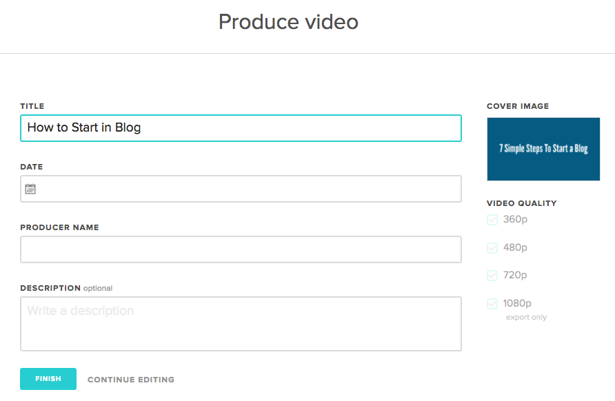 how to save animoto video