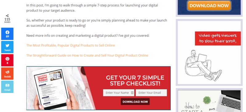promote email list to generate sales