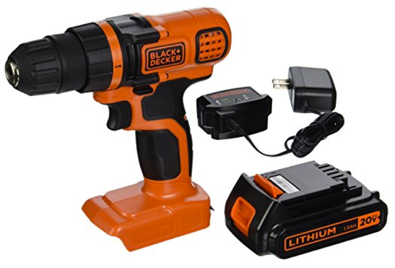 The Black & Decker LDX120C 20-Volt MAX Lithium-Ion Cordless Drill/Driver