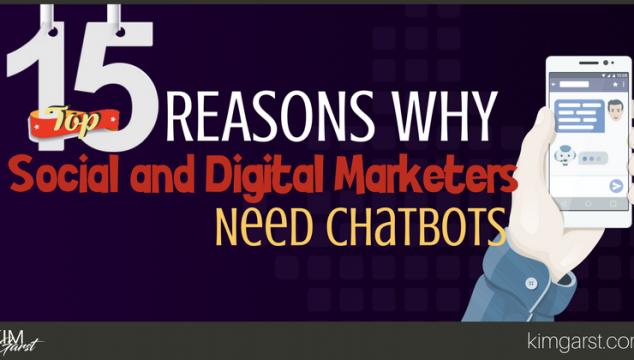 BLOG - Top 15 Reasons Why Social and Digital Marketers Need Chatbots