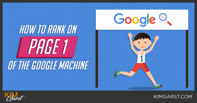 How to Rank on Page 1 of the Google Machine