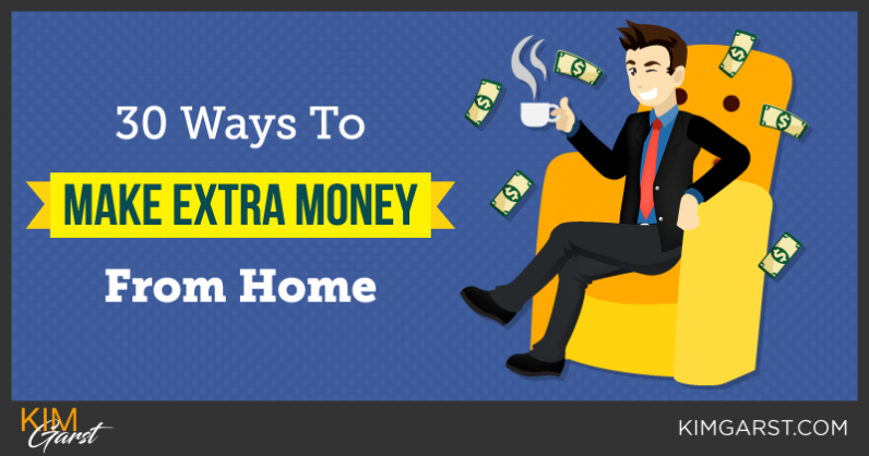 30 Ways To Make EXTRA Money From Home